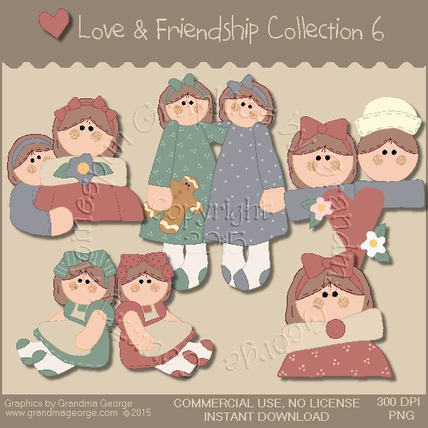 Love & Friendship Graphics Collection Vol. 6