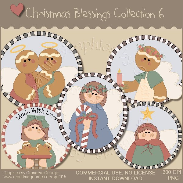 Christmas Blessings Graphics Collection Vol. 6