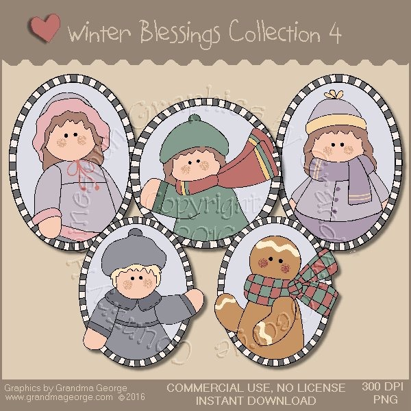 Winter Blessings Country Graphics Collection Vol. 4
