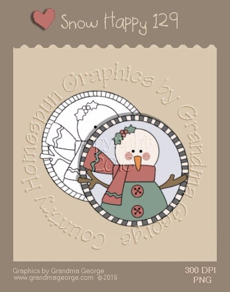 Snow Happy Single Country Graphic 129