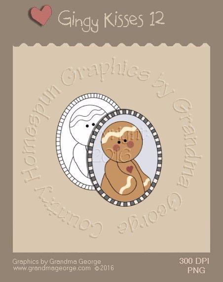 Gingy Kisses Single Country Graphic 12