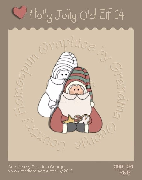 Holly Jolly Old Elf Single Country Graphic 14