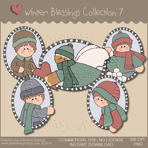 Winter Blessings Country Graphics Collection Vol. 7