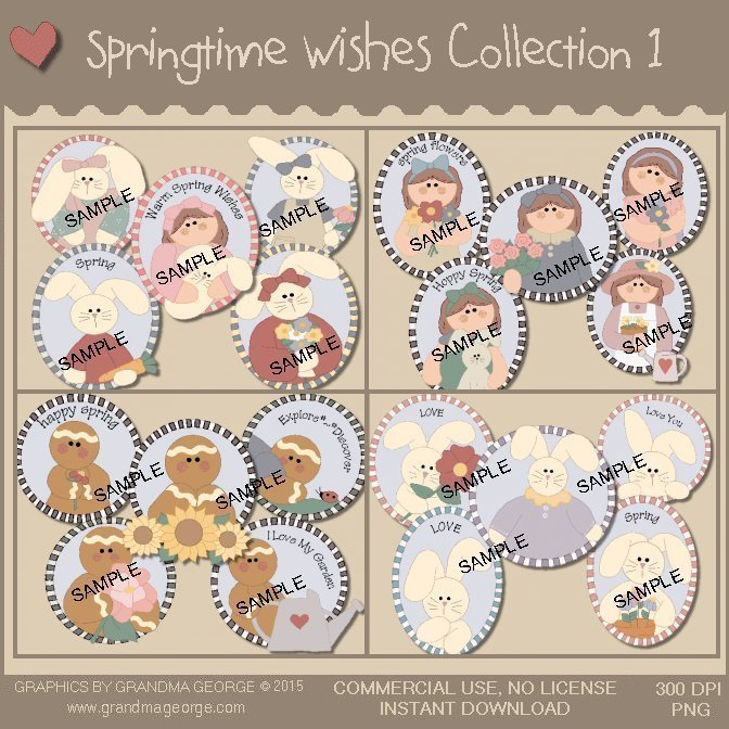 Springtime Wishes Graphics Collection Vol. 1