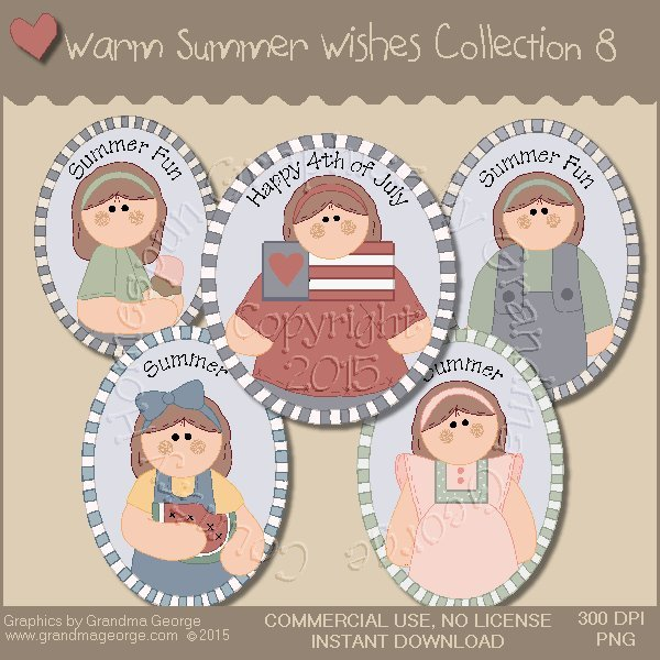 Warm Summer Wishes Graphics Collection Vol. 8