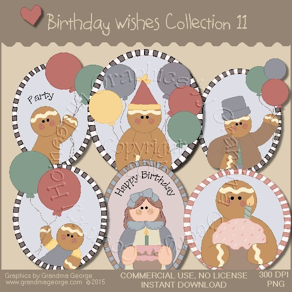 Birthday Wishes Country Graphics Collection Vol. 11