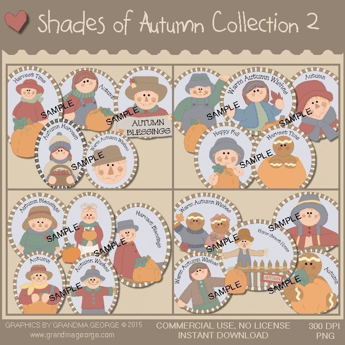 Shades of Autumn Graphics Collection Vol. 2