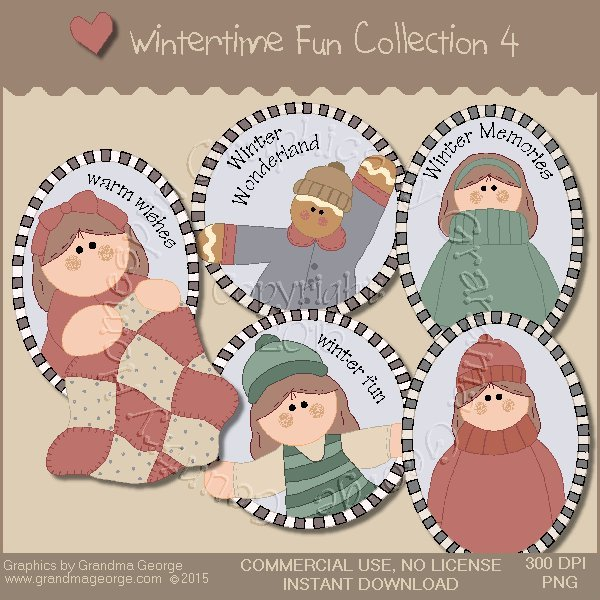 Wintertime Fun Graphics Collection Vol. 4