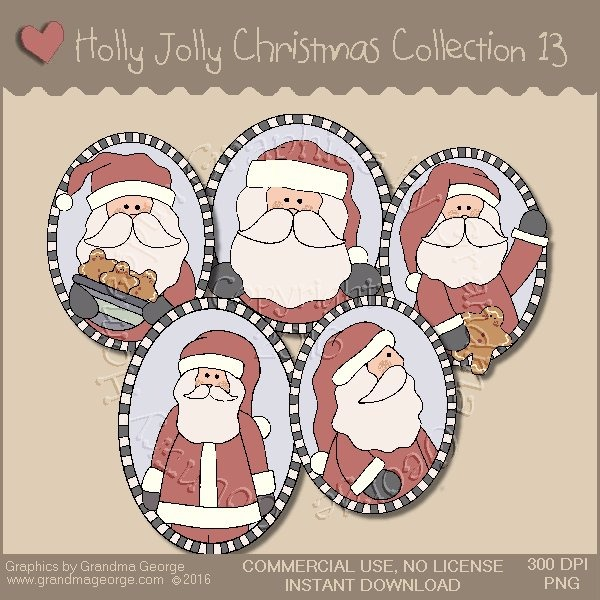 Holly Jolly Christmas Country Graphics Collection Vol. 13