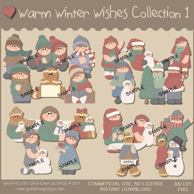 Warm Winter Wishes Graphics Collection Vol. 1