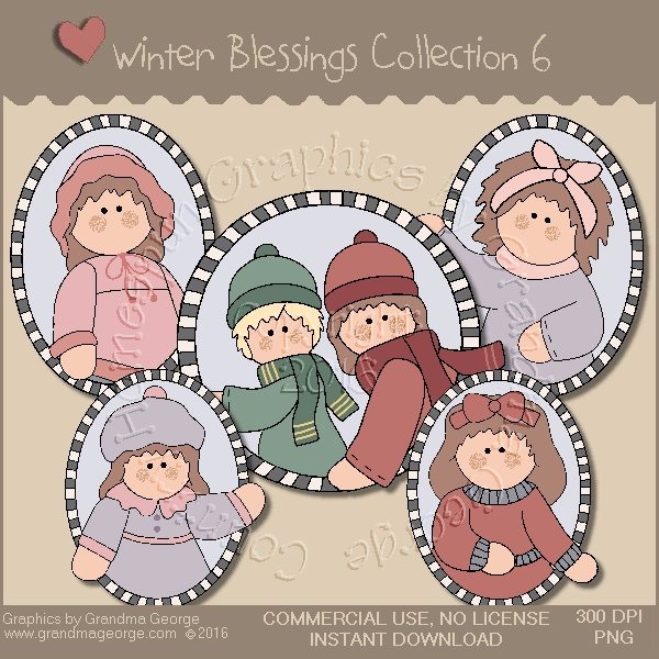 Winter Blessings Country Graphics Collection Vol. 6