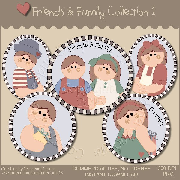 Friends & Family Graphics Collection Vol. 1