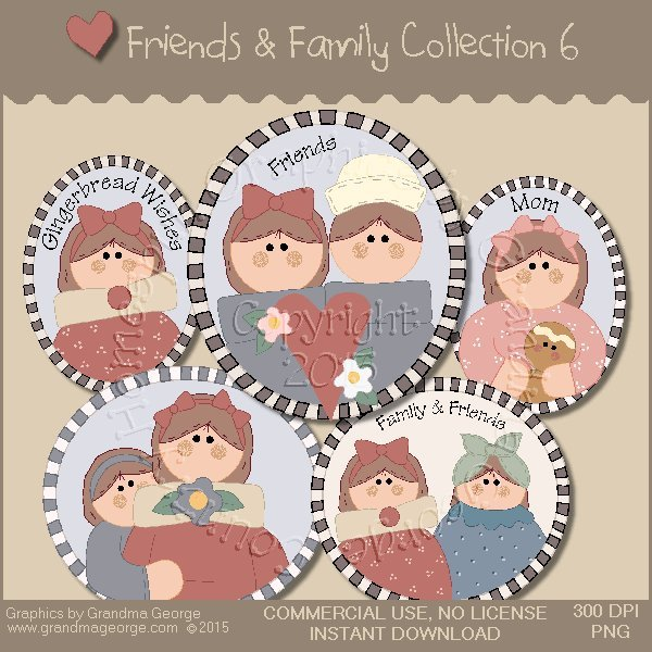 Friends & Family Graphics Collection Vol. 6