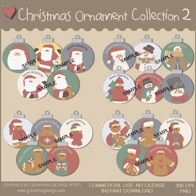 Christmas Ornament Collection Vol. 2