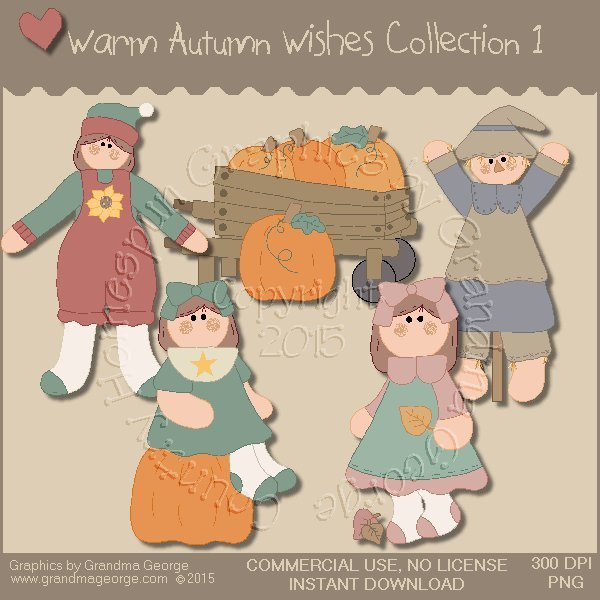 Warm Autumn Wishes Graphics Collection Vol. 1