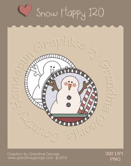 Snow Happy Single Country Graphic 120