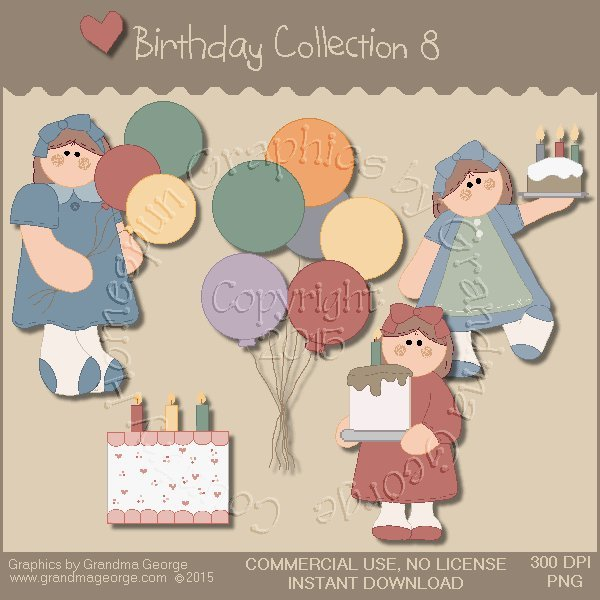 Birthday Graphics Collection Vol. 8