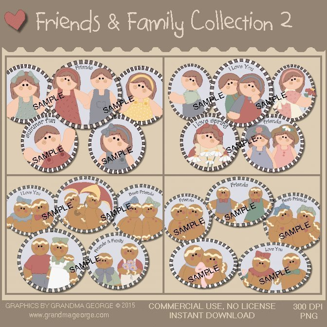Friends & Family Country Graphics Collection Vol. 2