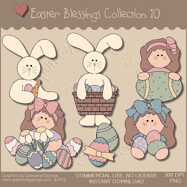 Easter Blessings Country Graphics Collection Vol. 10