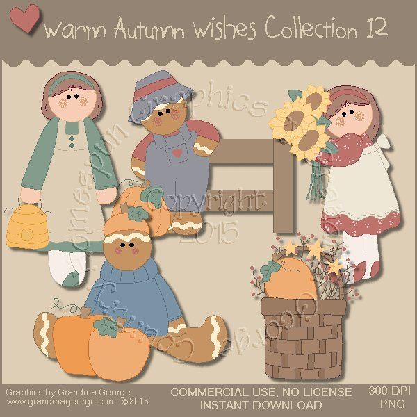 Warm Autumn Wishes Graphics Collection Vol. 12