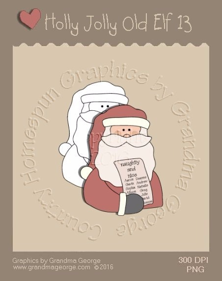 Holly Jolly Old Elf Single Country Graphic 13