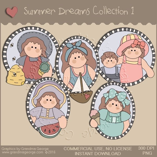 Summer Dreams Country Graphics Collection Vol. 1