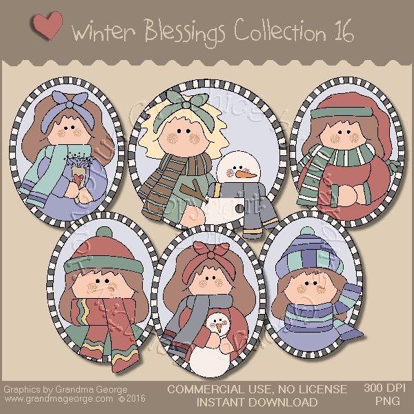 Winter Blessings Country Graphics Collection Vol. 16
