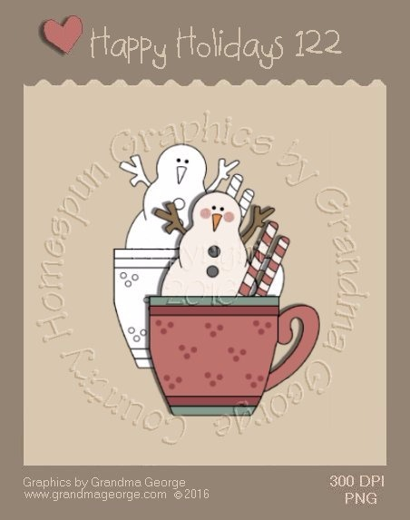 Happy Holidays Christmas Single Country Graphic 122