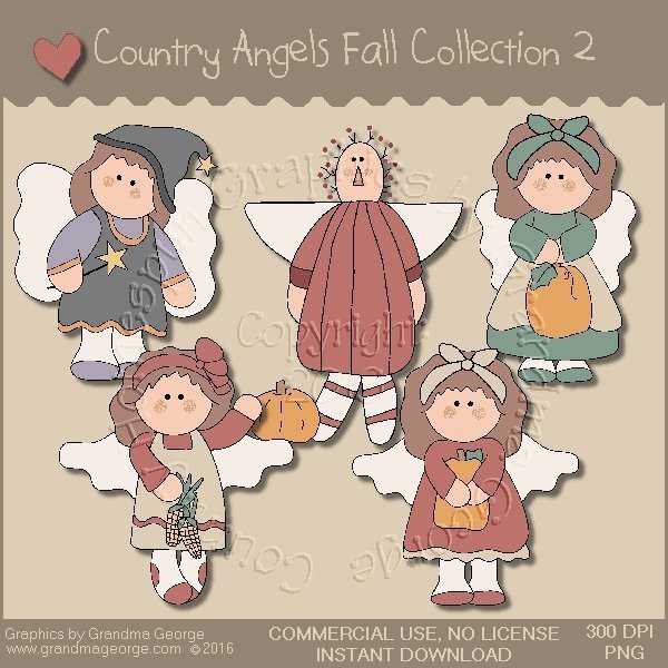 Country Angels Fall Graphics Collection Vol. 2