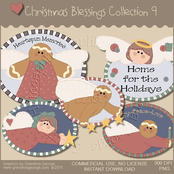 Christmas Blessings Graphics Collection Vol. 9