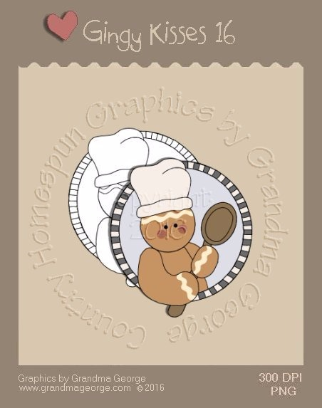 Gingy Kisses Single Country Graphic 16