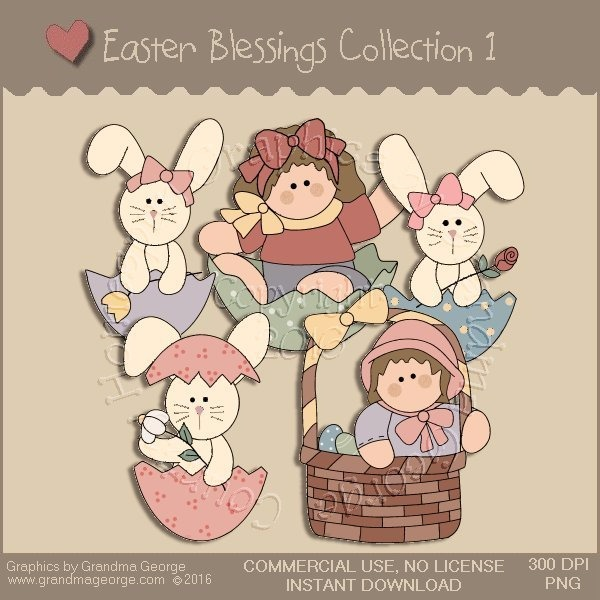 Easter Blessings Country Graphics Collection Vol. 1