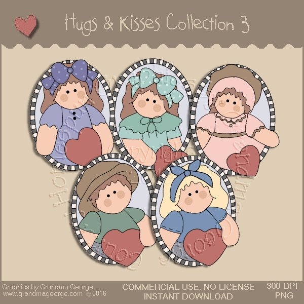 Hugs & Kisses Valentine Country Graphics Collection Vol. 3