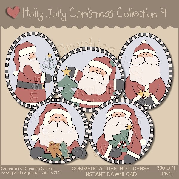 Holly Jolly Christmas Country Graphics Collection Vol. 9