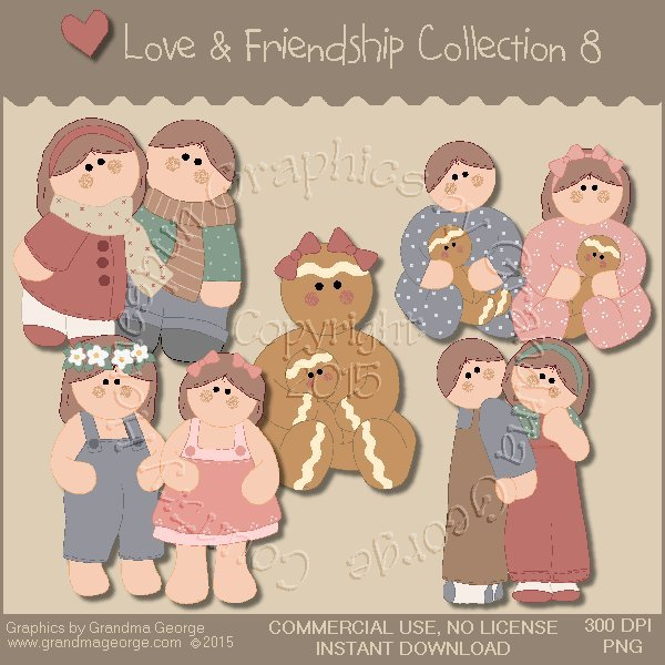 Love & Friendship Graphics Collection Vol. 8
