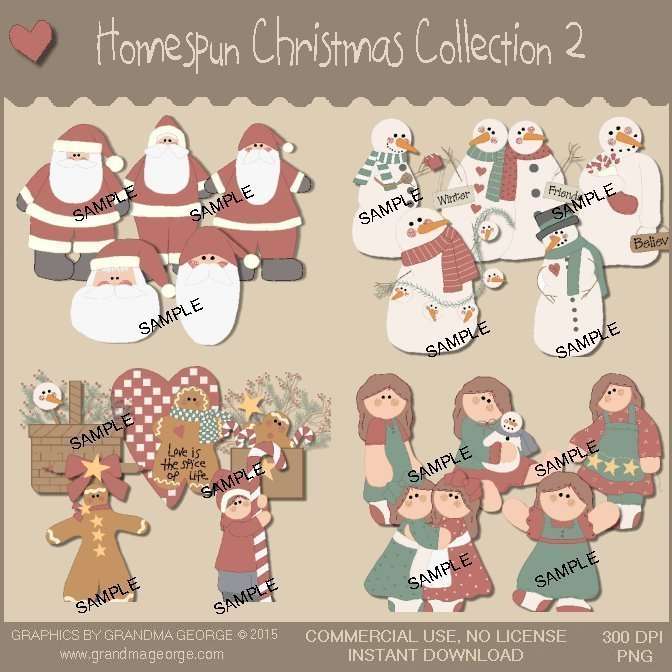 Homespun Christmas Collection Vol. 2