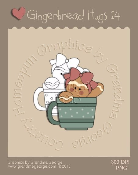 Gingerbread Hugs Single Country Graphic 14