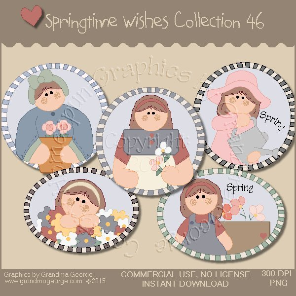 Country Springtime Wishes Graphics Collection Vol. 46