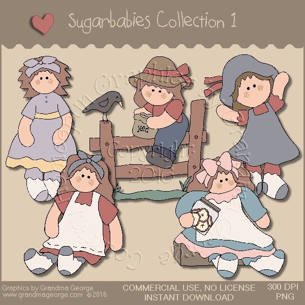 Sugarbabies Country Graphics Collection Vol. 1