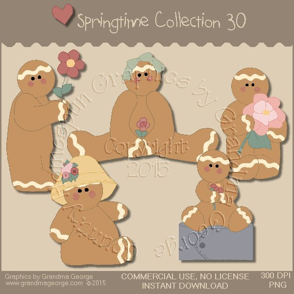 Country Springtime Graphics Collection Vol. 30