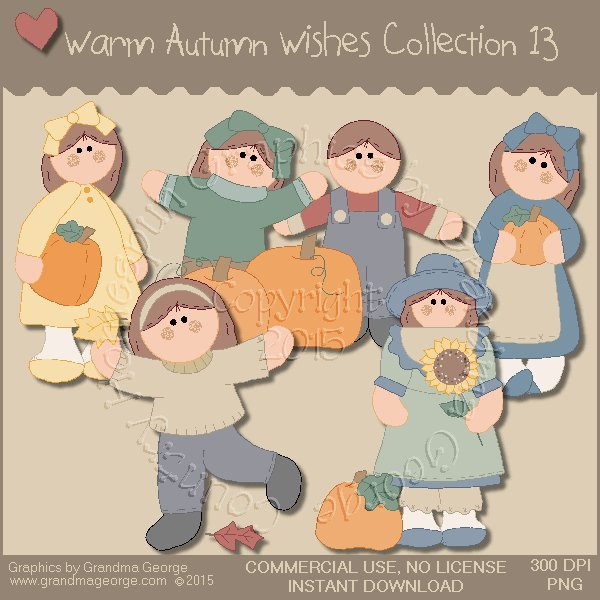 Warm Autumn Wishes Graphics Collection Vol. 13