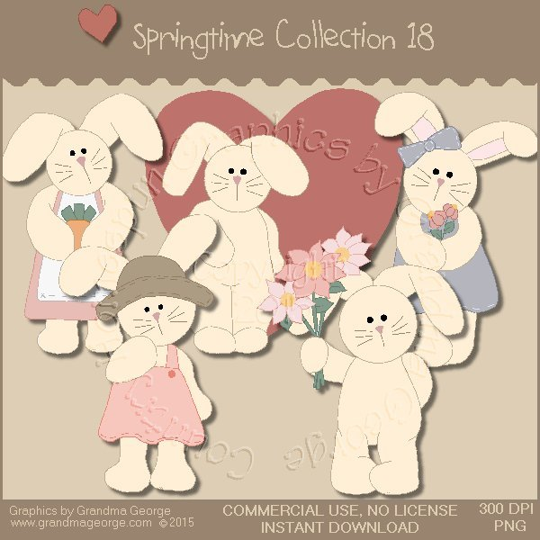 Country Springtime Graphics Collection Vol. 18