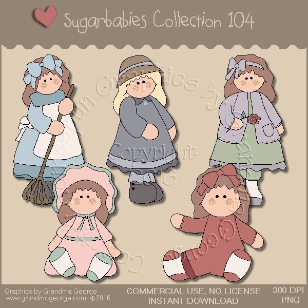 Sugarbabies Country Graphics Collection Vol. 104