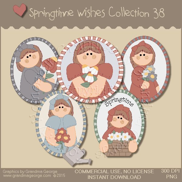 Country Springtime Wishes Graphics Collection Vol. 38