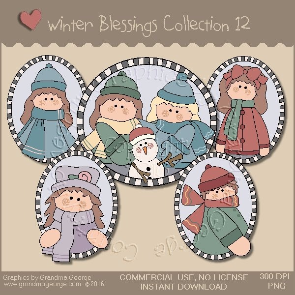 Winter Blessings Country Graphics Collection Vol. 12