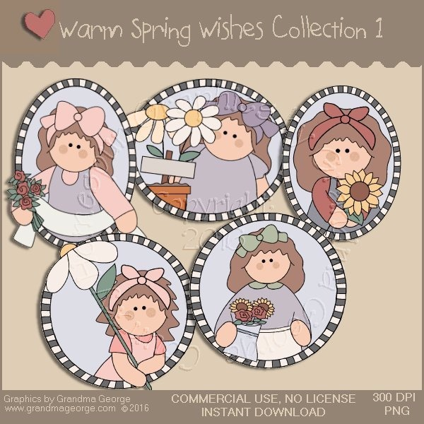 Warm Spring Wishes Country Graphics Collection Vol. 1