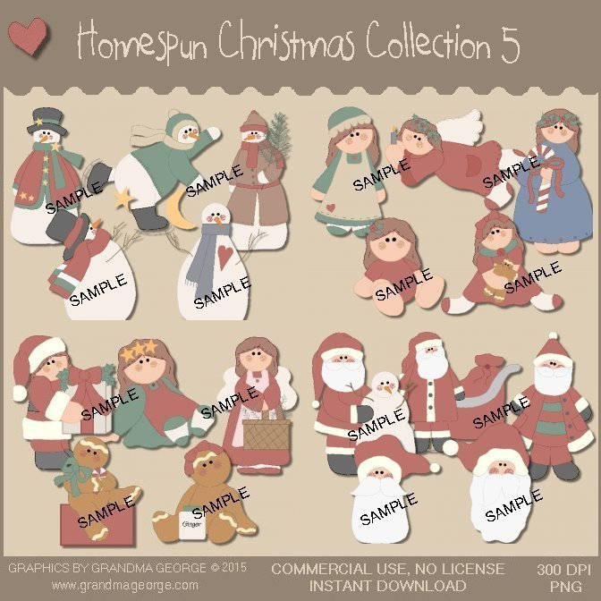 Homespun Christmas Collection Vol. 5