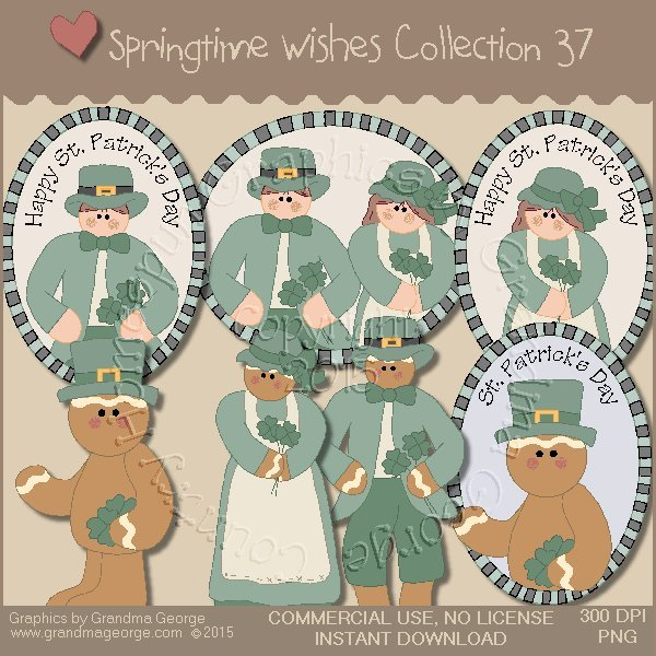 Country Springtime Wishes Graphics Collection Vol. 37