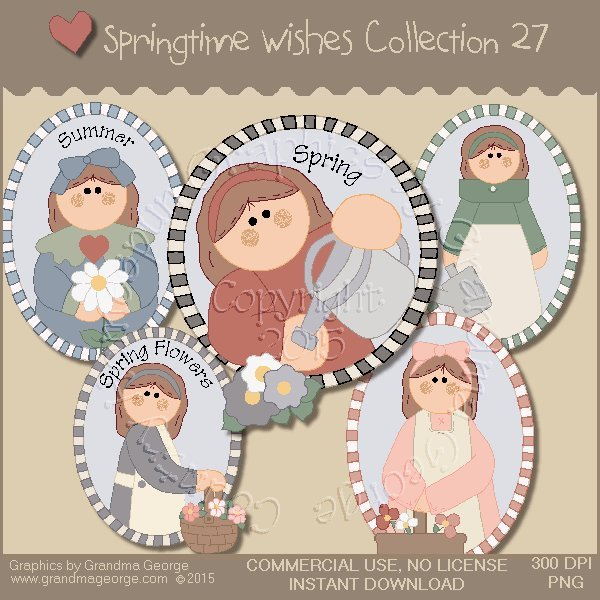 Country Springtime Wishes Graphics Collection Vol. 27