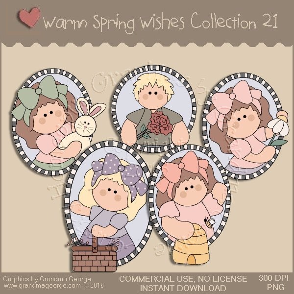 Warm Spring Wishes Country Graphics Collection Vol. 21